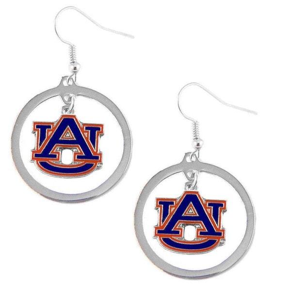 NCAA Charm Auburn Tigers Hoop Logo Earring Set