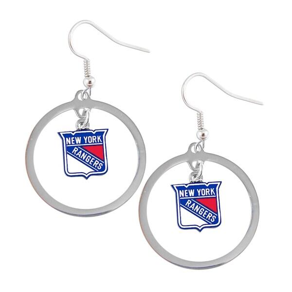 NHL New York Rangers Hoop Logo Earring Set