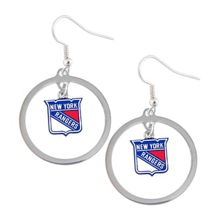 NHL New York Rangers Hoop Logo Earring Set