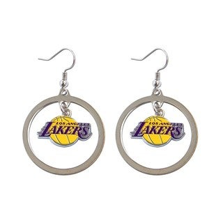 NBA Los Angeles Lakers Hoop Logo Earring Set Silver