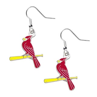 MLB Charm Set St Louis Cardinals 'Bird on Bat' Dangle Logo Earring Set