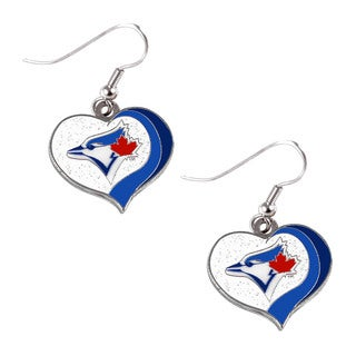 MLB Toronto Blue Jays Glitter Heart Earring Swirl Charm Set