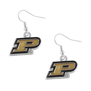 NCAA Purdue Boilermakers Sports Team 'P' Dangle Logo Earring Set