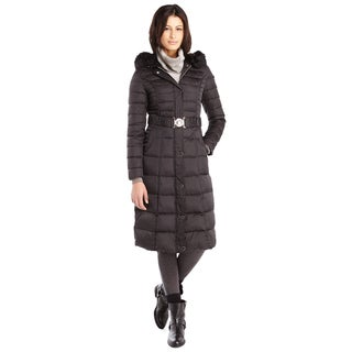 Laundry by Shelli Segal Women's Black Down Maxi Puffer Coat