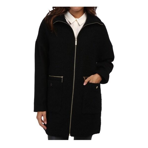6d0a5e7151b5 Shop Michael Michael Kors Women s Black Wool Boucle Zip Front Jacket - Free  Shipping Today - Overstock - 11101339