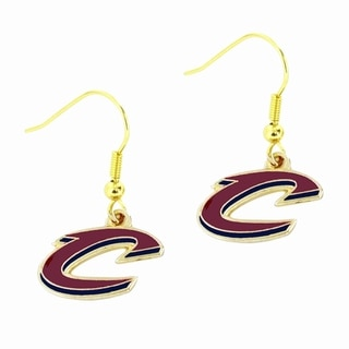 NBA Sports Team Cleveland Cavaliers Logo Dangle Earrings