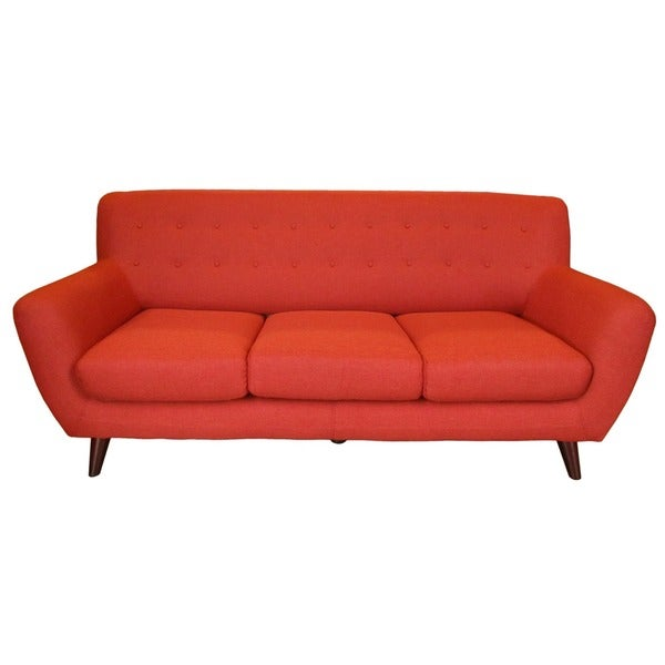 porter edie pumpkin orange modern sofa free shipping. Black Bedroom Furniture Sets. Home Design Ideas