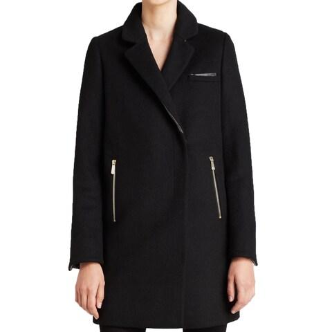 DL2 By Dawn Levy Women's Cathy Black Wool Coat