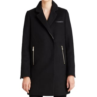 DL2 By Dawn Levy Women's Cathy Black Wool Coat