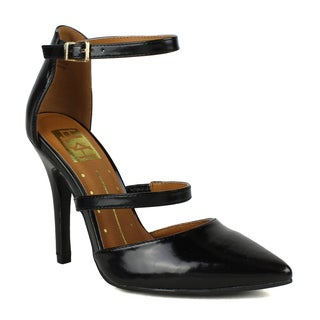 Fahrenheit Lori-02 Ankle Strap High Heel Pumps