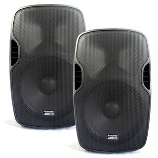 Acoustic Audio Aa15ub Powered 15-inch Bluetooth Speaker Pair 2000 Watts 2 Way Usb Mp3 Players Aa15ub-pr