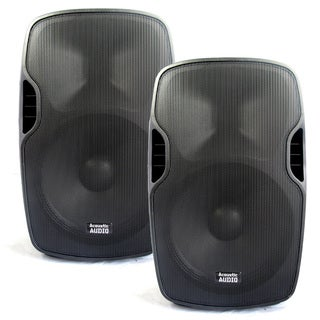 Acoustic Audio Aa15u Powered 15-inch Speaker Pair 2000 Watts 2 Way Usb Mp3 Players Aa15u-pr