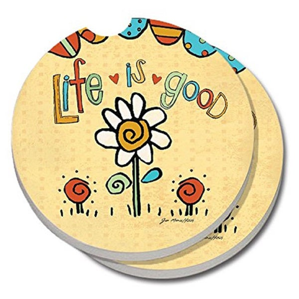 Counterart absorbent stone car coaster life is good set of 2 free shipping on orders over - Stone absorbent coasters ...