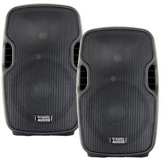Acoustic Audio Aa8ub Powered 1200 Watts 8-inch Bluetooth Speaker Pair 2 Way Usb Mp3 Players Aa8ub-pr