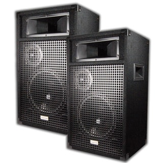 Acoustic Audio Br10 Pa Karaoke Dj 10-inch Speaker Pair 1600 Watts 3 Way Br10-pr