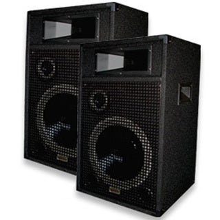 Acoustic Audio Br12 Pa Karaoke Dj 12-inch Speakers 2000 Watts 3 Way Pair Br12-pr