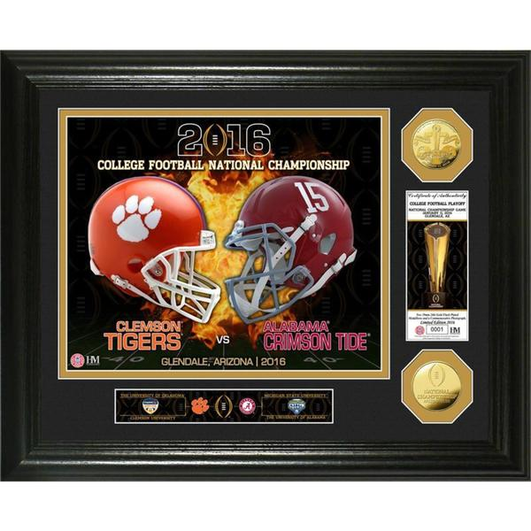 2016 College Football National Championship Game Gold Coin Photo Mint