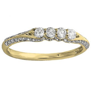 Elora 14k Yellow Gold 1/2ct TDW Anniversary Wedding Band Stackable Ring (I-J, I1-I2)