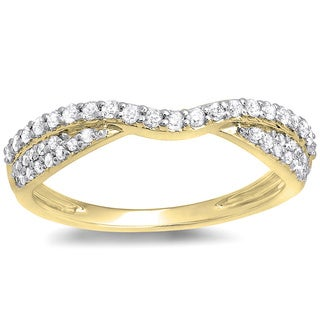 14k Yellow Gold 1/3ct TDW Diamond Bridal Anniversary Wedding Stackable Band (I-J, I1-I2)