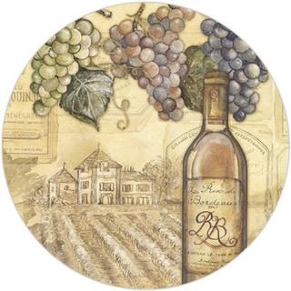 "Counterart Glass Lazy Susan Turntable - Vineyards Wine Bottle Design - 13"""