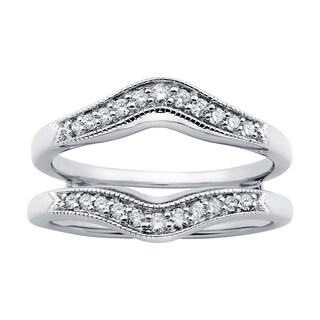 Boston Bay Diamonds 14k White Gold 1/4ct Diamond Bridal Insert (H-I, SI1-SI2)
