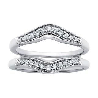 Boston Bay Diamonds 14k White Gold 1/4ct Diamond Bridal Insert