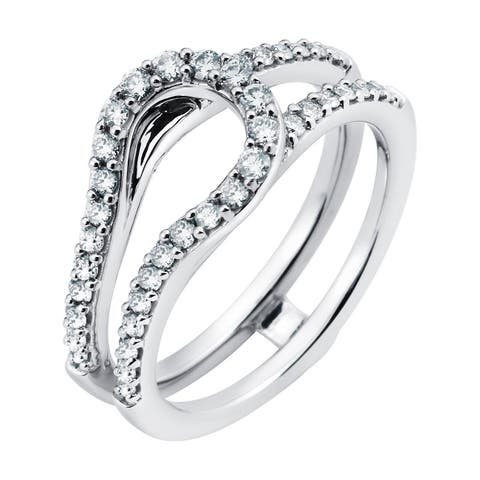 Boston Bay Diamonds 14k White Gold 1/2ct TDW Diamond Bridal Ring