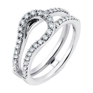 Boston Bay Diamonds 14k White Gold 1/2ct TDW Diamond Bridal Ring|https://ak1.ostkcdn.com/images/products/11101544/P18106244.jpg?impolicy=medium