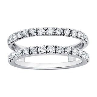Boston Bay Diamonds 14k White Gold 3/4ct Diamond Bridal Insert (H-I, SI1-SI2)