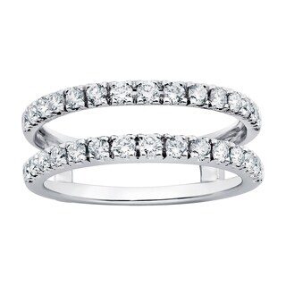 Boston Bay Diamonds 14k White Gold 3/4ct Diamond Bridal Insert (More options available)