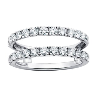Boston Bay Diamonds 14k White Gold 1ct TDW Diamond Bridal Insert Ring (H-I, SI1-SI2)