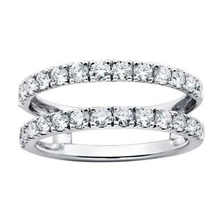 Boston Bay Diamonds 14k White Gold 1ct TDW Diamond Bridal Insert Ring (H-I, SI1-SI2)