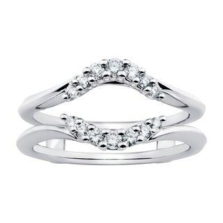 Boston Bay Diamonds 14k White Gold 1/4ct Diamond Bridal Insert (G-H, SI1-SI2)