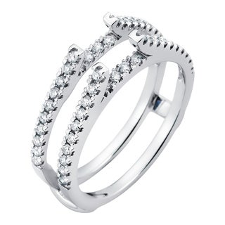 Boston Bay Diamonds 14k White Gold 1/2ct Diamond Bridal Insert (More options available)