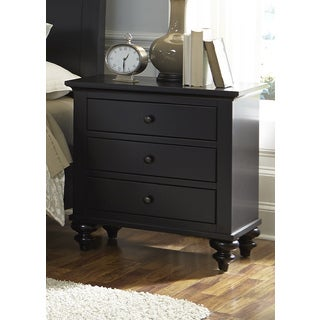 Hamilton III Black Cottage 3-Drawer Nightstand