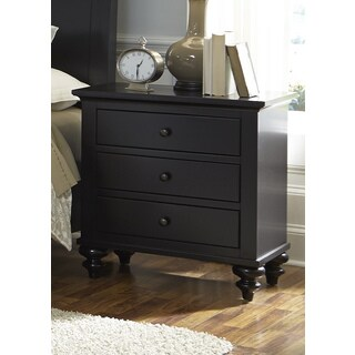 Gracewood Hollow Walker Black Cottage 3-drawer Nightstand