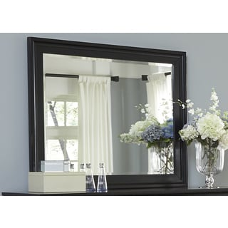 Hamilton III Black Cottage Landscape Mirror
