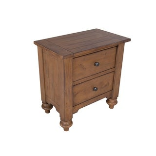 Southern Pines II Vintage Light Pine 2-Drawer Nightstand