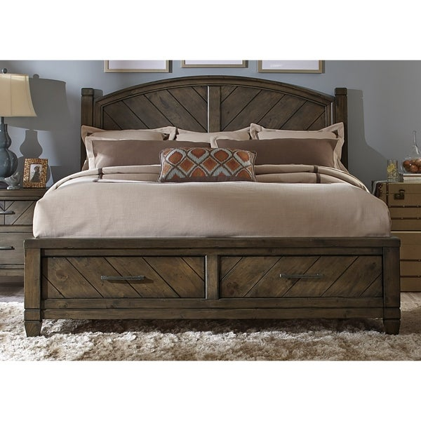 Modern Country Harvest Brown Storage Posterbed