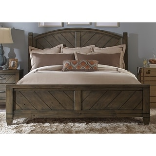 modern country harvest brown posterbed - Poster Bed Frame