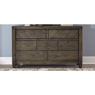 Modern Country Harvest Brown 7-Drawer Dresser