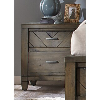 Modern Country Harvest Brown 2-Drawer Nightstand
