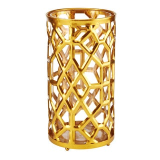 Mikasa 10 Inch Gold Metal Candle Holder