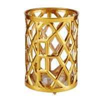 Mikasa 7-1/2 Inch Gold Metal Candle Holder