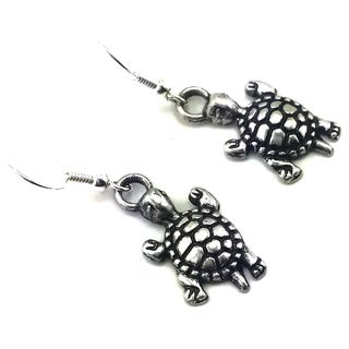 Mama Designs Handmade Sterling Silver Turtle Dangling Earrings