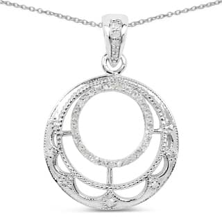 Olivia Leone Sterling Silver 1/4ct TDW White Diamond Pendant|https://ak1.ostkcdn.com/images/products/11102125/P18106728.jpg?impolicy=medium