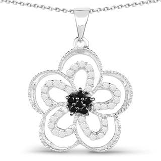 Olivia Leone Sterling Silver 1/2ct TDW White and Black Diamond Pendant|https://ak1.ostkcdn.com/images/products/11102129/P18106732.jpg?impolicy=medium