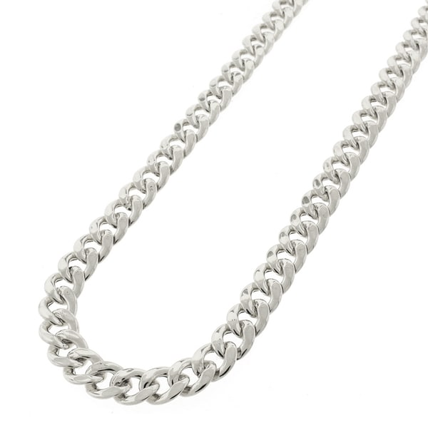 925 Sterling Silver Heavy Men/'s Diamond Cut Curb Chain,16,18,20,24,28,30 inch