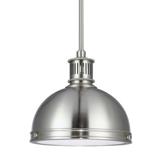 Sea Gull Pratt Street Metal LED Brushed Nickel Pendant