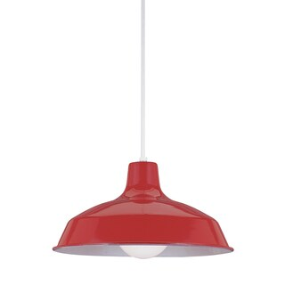 Sea Gull Painted Shade Pendants LED Red Pendant